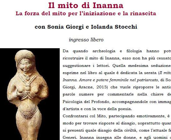"""Presentazione del libro """"Il mito di Inanna - La forza del mito per l'iniziazione e la rinascita"""""""